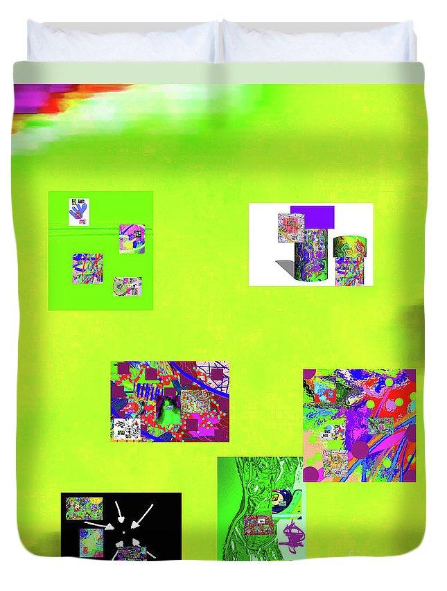Walter Paul Bebirian Duvet Cover featuring the digital art 9-6-2015habcdefghijklmnop by Walter Paul Bebirian