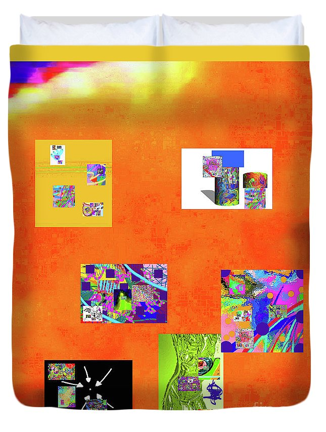 Walter Paul Bebirian Duvet Cover featuring the digital art 9-6-2015habcdefghijklmnopqrtuv by Walter Paul Bebirian