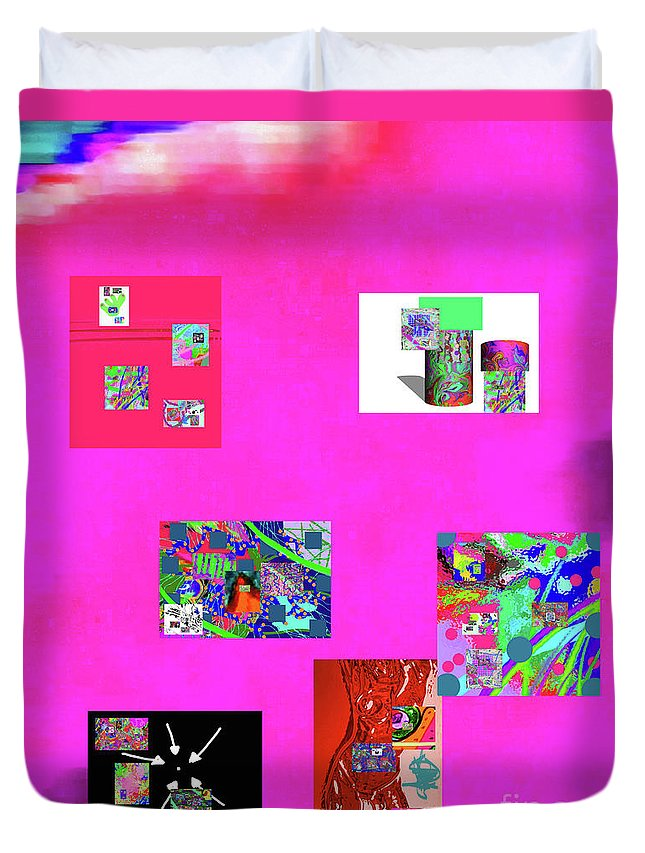 Walter Paul Bebirian Duvet Cover featuring the digital art 9-6-2015habcdefghijklmnopqrtuvwxyzabc by Walter Paul Bebirian