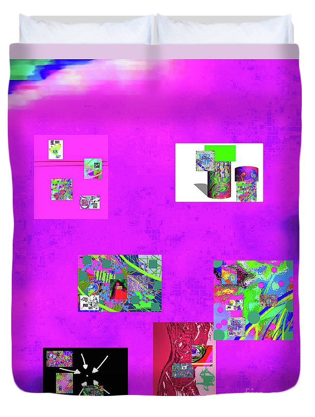 Walter Paul Bebirian Duvet Cover featuring the digital art 9-6-2015habcdefghijklmnopqrtuvwxyzabcdef by Walter Paul Bebirian