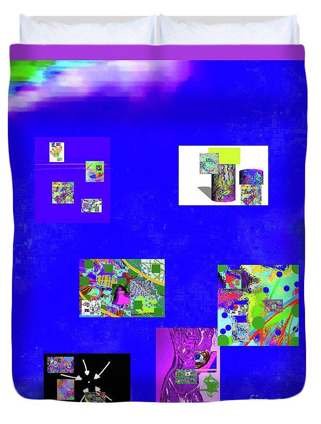 Walter Paul Bebirian Duvet Cover featuring the digital art 9-6-2015habcdefghijklmnopqrtuvwxyzabcdefghijk by Walter Paul Bebirian