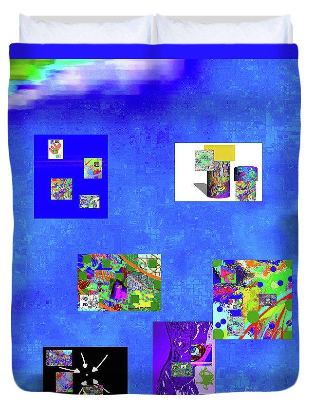 Walter Paul Bebirian Duvet Cover featuring the digital art 9-6-2015habcdefghijklmnopqrtuvwxyzabcdefghijklm by Walter Paul Bebirian