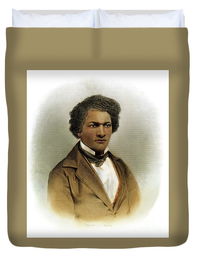 1854 Duvet Cover featuring the drawing Frederick Douglass by Granger