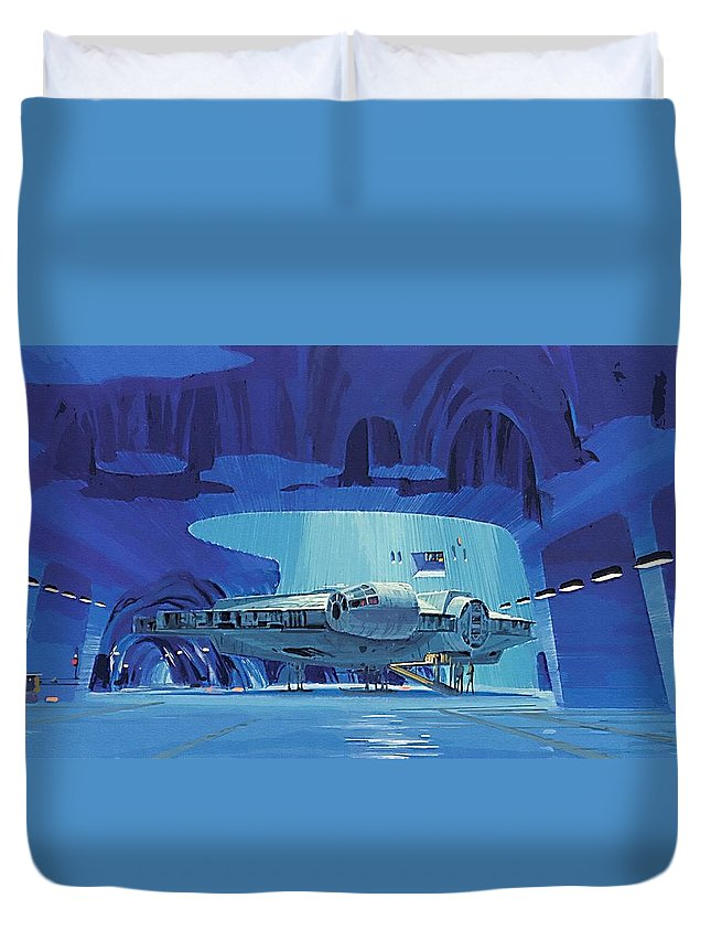 Star Wars Force Duvet Cover featuring the digital art Imperial Star Wars Poster by Larry Jones