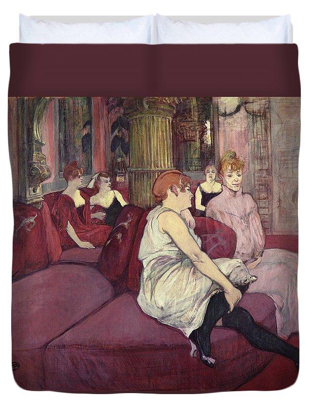 Rest Duvet Cover featuring the painting Lautrec by Henri De Toulouse