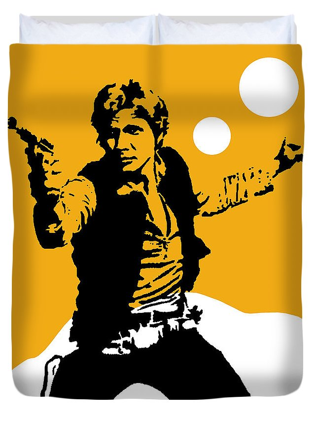 Star Wars Duvet Cover featuring the mixed media Star Wars Han Solo Collection by Marvin Blaine