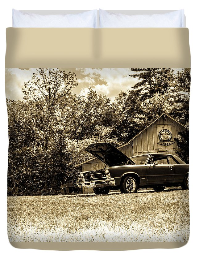 Classic Duvet Cover featuring the photograph Classic Cars by Mickie Bettez