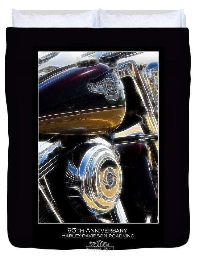 Motorcycle Duvet Cover featuring the photograph 95th Anniversary by Ricky Barnard