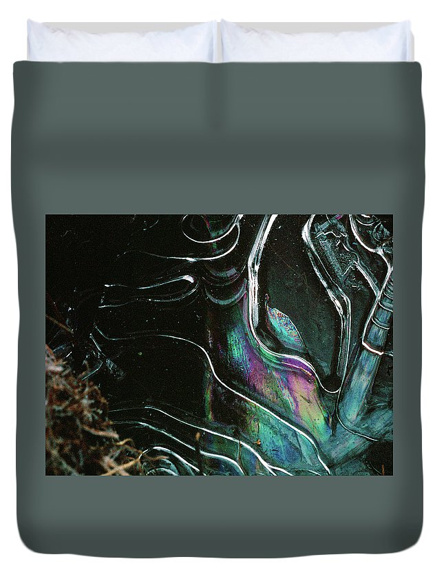 Duvet Cover featuring the photograph 9.close-up Ice Prismatics, Loch Na Achlaise by Iain Duncan
