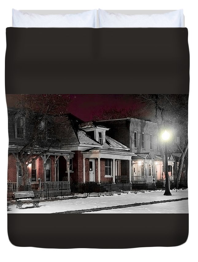 9th Duvet Cover featuring the photograph 9th St. Auraria by Jeffery Ball