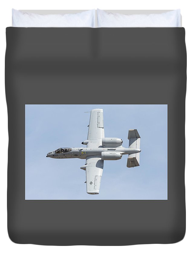 A-10 Duvet Cover featuring the photograph A-10 Thunderbolt II by John Daly