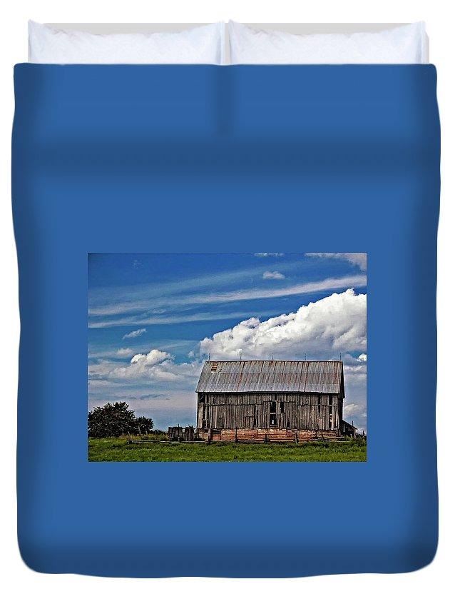 Barn Duvet Cover featuring the photograph A Barn by Steve Harrington