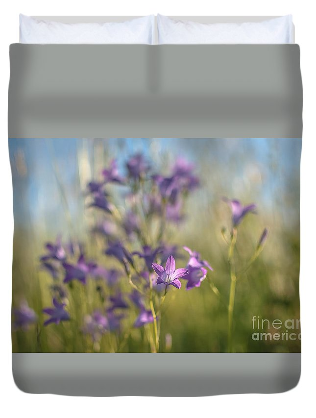 Beam Duvet Cover featuring the photograph A Beam Of Summer by Lyudmila Prokopenko