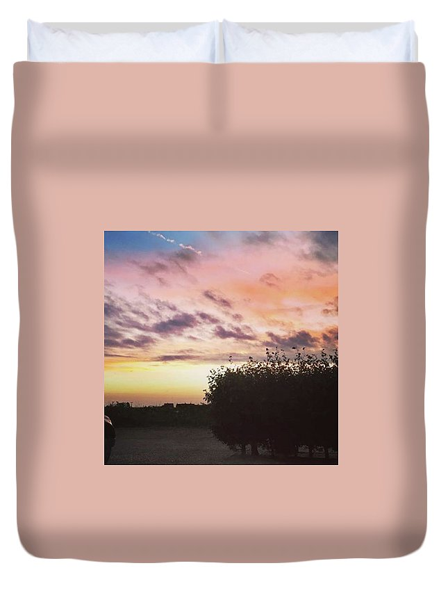 Norfolklife Duvet Cover featuring the photograph A Beautiful Morning Sky At 06:30 This by John Edwards