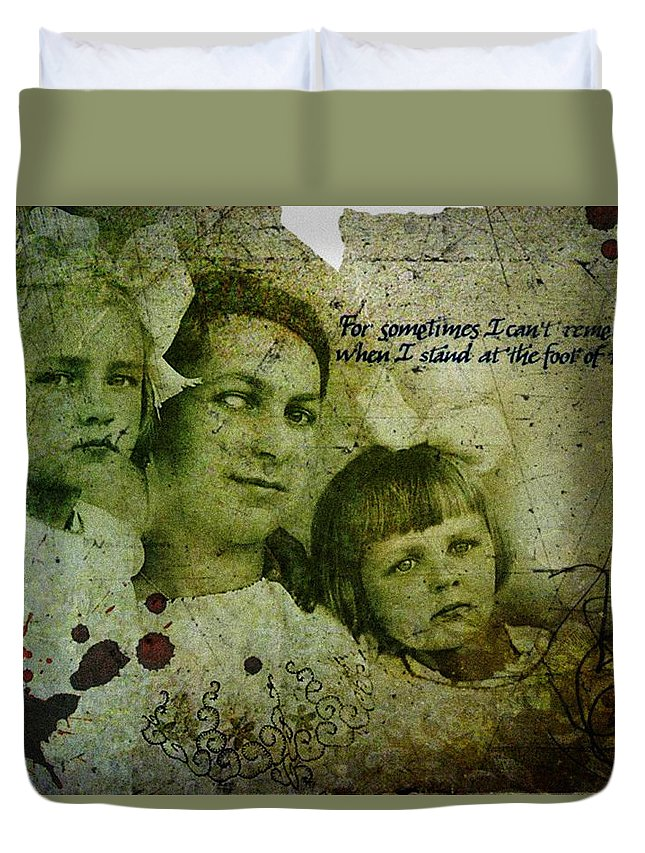 Gothic Duvet Cover featuring the digital art A Better Life #3 by Hiro Proshu