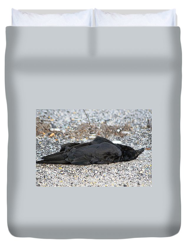 Death Duvet Cover featuring the photograph A Birds Eye View Of  The End by Paul SEQUENCE Ferguson       sequence dot net