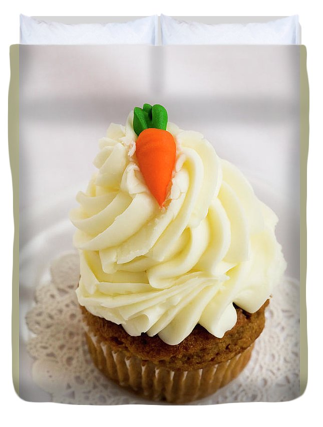 Carrot Muffin Duvet Cover featuring the photograph A Carrot Muffin by Diane Macdonald