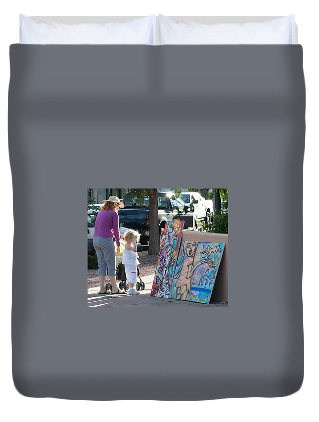Paintings Duvet Cover featuring the photograph A Child's Eye by Angus Hooper Iii