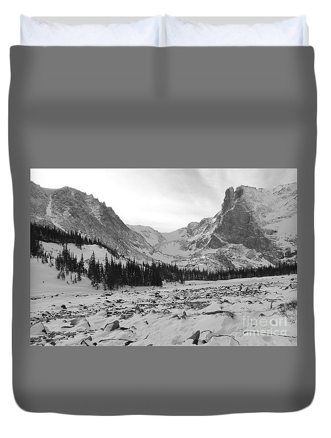 Nature Duvet Cover featuring the photograph A Colorado Mountain Winter by Tonya Hance
