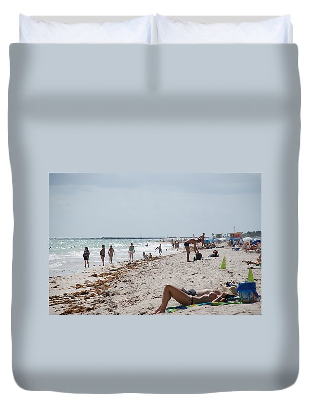 Nude Duvet Cover featuring the photograph A Day At Paradise Beach by Rob Hans