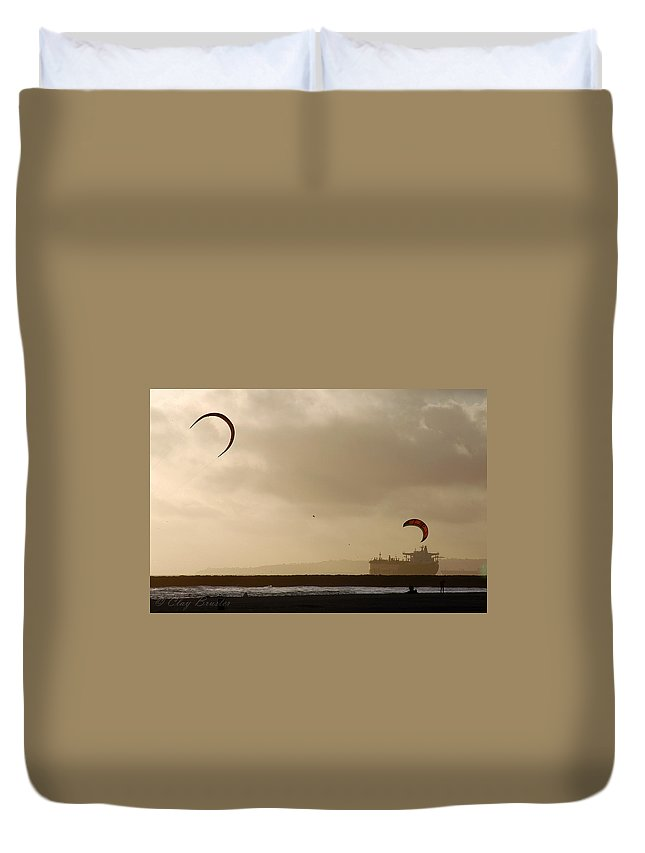 Clay Duvet Cover featuring the photograph A Day At The Beach by Clayton Bruster