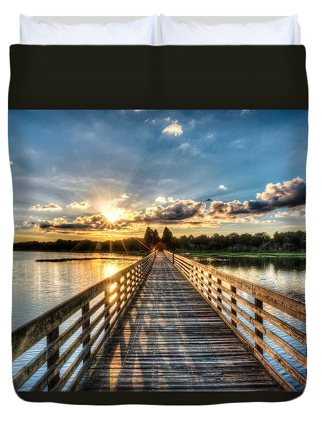 Lake Duvet Cover featuring the photograph A Day At The Lake by Ronald Kotinsky