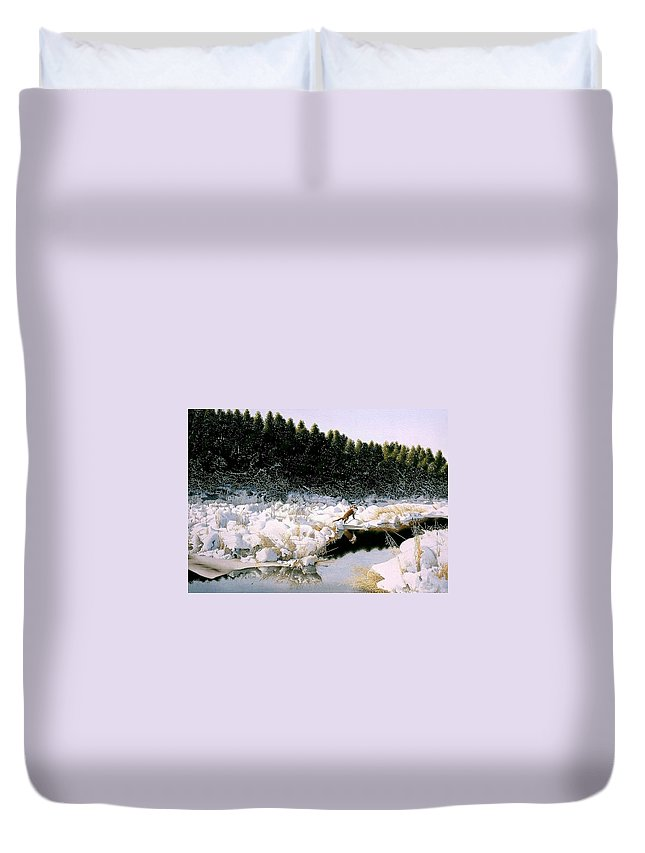 Landscape Duvet Cover featuring the painting A Day I Remember by Conrad Mieschke