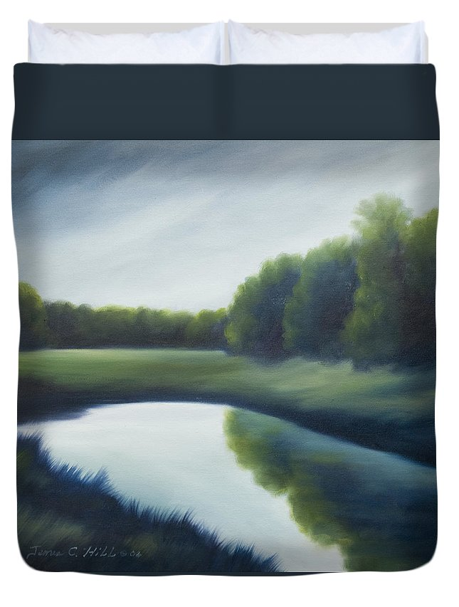 Clouds Duvet Cover featuring the painting A Day In The Life 2 by James Christopher Hill