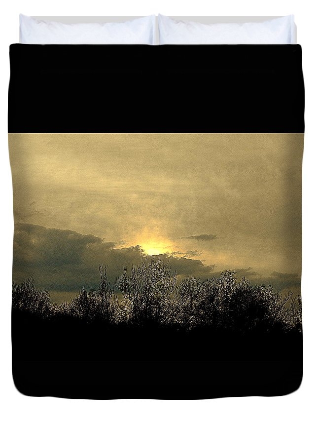 Photography Duvet Cover featuring the photograph A December Sunset 2 by Nancy Kane Chapman