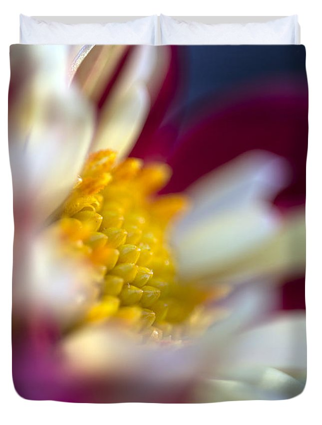 Flower Duvet Cover featuring the photograph A Different Kind Of Dahlia by Kurt Shaffer