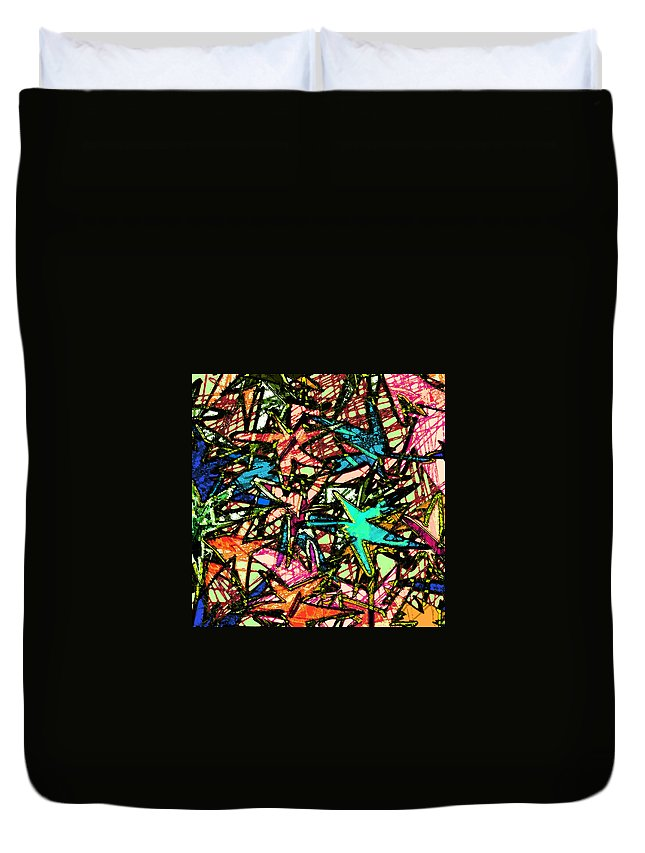 Abstract Duvet Cover featuring the digital art A Dream Shattered by Rachel Christine Nowicki