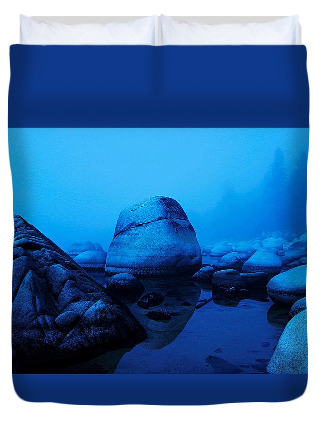 Lake Tahoe Duvet Cover featuring the photograph A Face Only A Mother Could Love by Sean Sarsfield