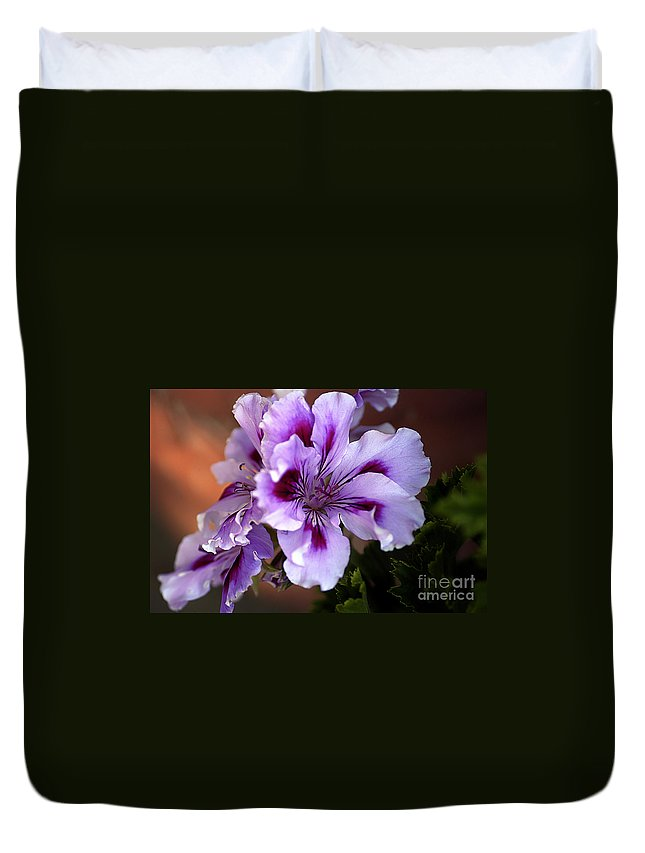 Clay Duvet Cover featuring the photograph A Floral For Jalapeno by Clayton Bruster