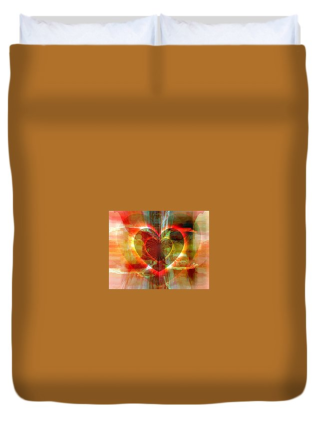 Fania Simon Duvet Cover featuring the digital art A Forgiving Heart by Fania Simon