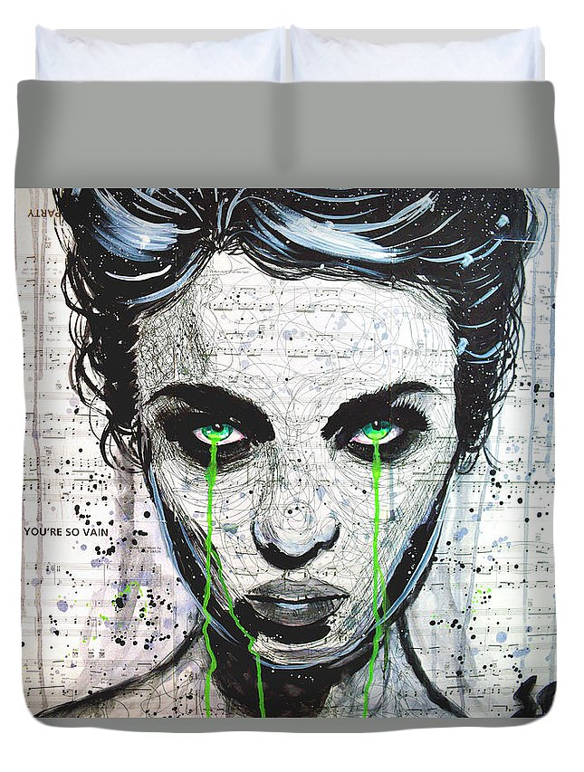 Black And White Duvet Cover featuring the painting A Funeral For My Vanity by Brandon Scott
