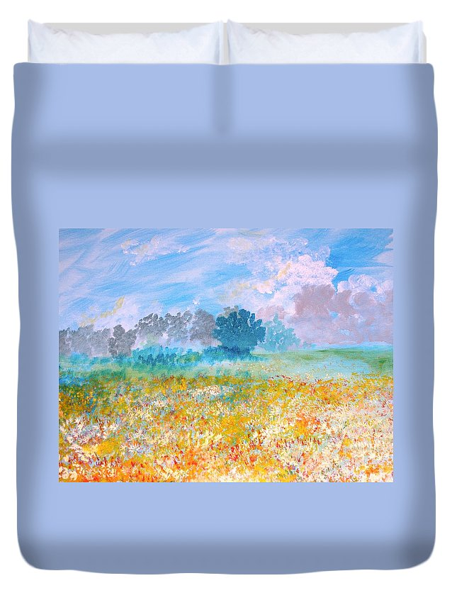 New Artist Duvet Cover featuring the painting A Golden Afternoon by J Bauer