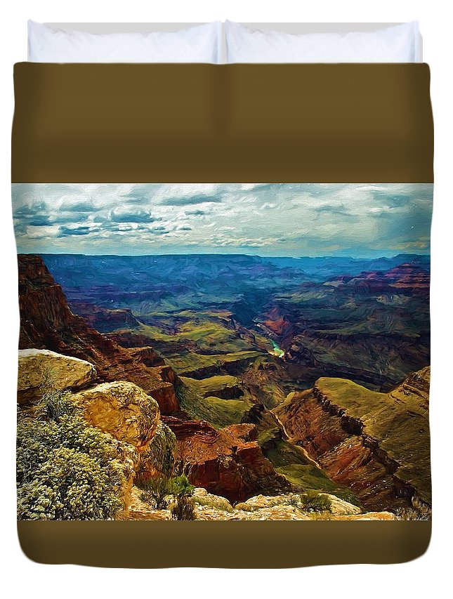 View Duvet Cover featuring the photograph A Grand View by Joseph Broyles