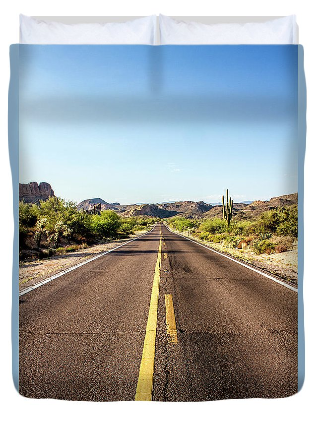 Arizona Duvet Cover featuring the photograph A Journey Through Arizona by Kevin Deal