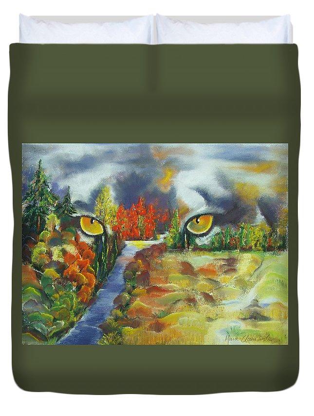 Journey Through Change Duvet Cover featuring the painting A Journey Through Change by Marie-Claire Dole
