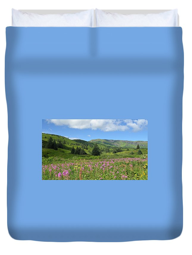 Nature Duvet Cover featuring the photograph A Kodiak Moment by Sheila McCleary