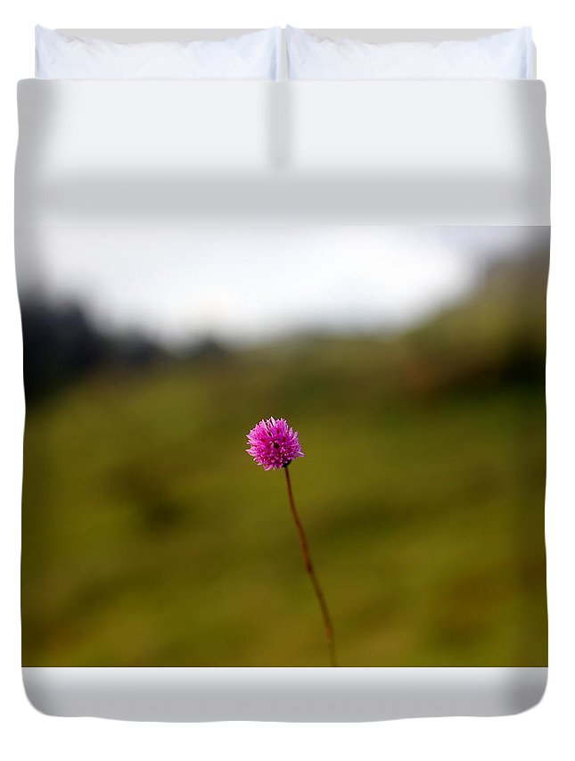 Flower Duvet Cover featuring the photograph A Little Violet Flower by Silpa Saseendran