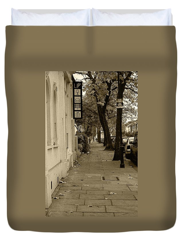 London Duvet Cover featuring the photograph A London Street I by Ayesha Lakes