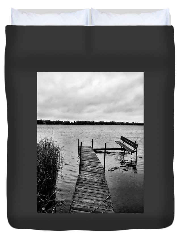 Long Duvet Cover featuring the photograph A Long Day's Journey by Robert Meyers-Lussier