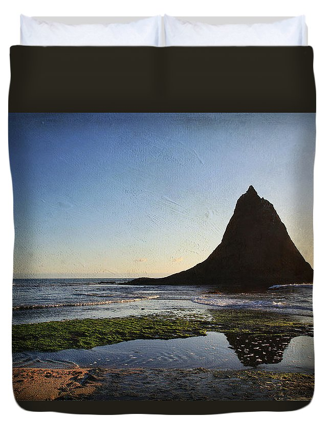 Martins Beach Duvet Cover featuring the photograph A Long Lonely Time by Laurie Search