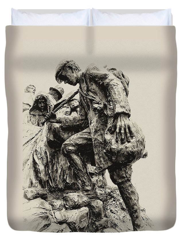 Philadelphia Duvet Cover featuring the photograph A Long Way To The Top by Bill Cannon