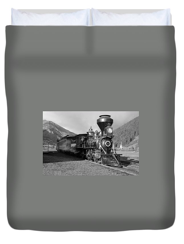 Steam Train Photographs Photographs Photographs Duvet Cover featuring the photograph A Look Of The Past by Ken Smith