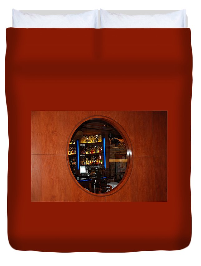 Architecture Duvet Cover featuring the photograph A Look Thru The Fishbowl by Rob Hans