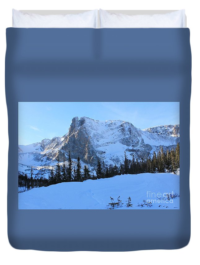 Nature Duvet Cover featuring the photograph A Majestic Winter View by Tonya Hance