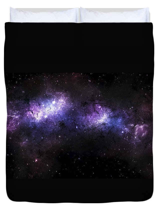 Fantasy Duvet Cover featuring the digital art A Massive Nebula Covers A Huge Region by Justin Kelly