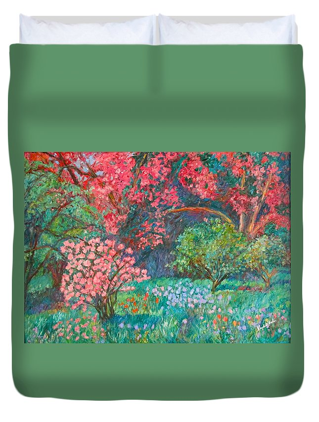 Landscape Duvet Cover featuring the painting A Memory by Kendall Kessler